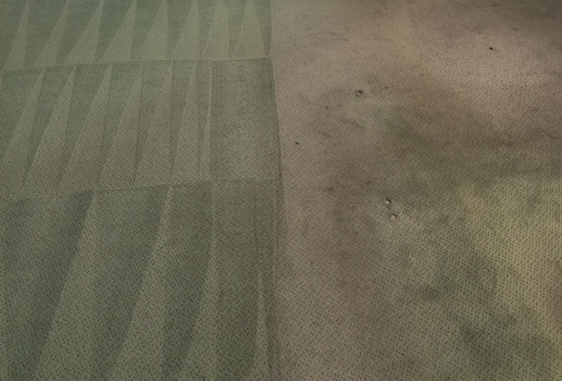 Beispiel für synthetische Teppichreinigung
